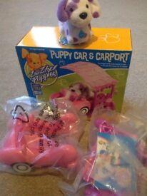 Zhu Zhu Puppies Puppy Car &Carport