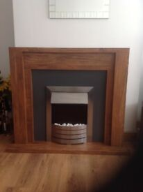 Next Wooden electric fire place