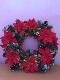 Traditional wreath just been made