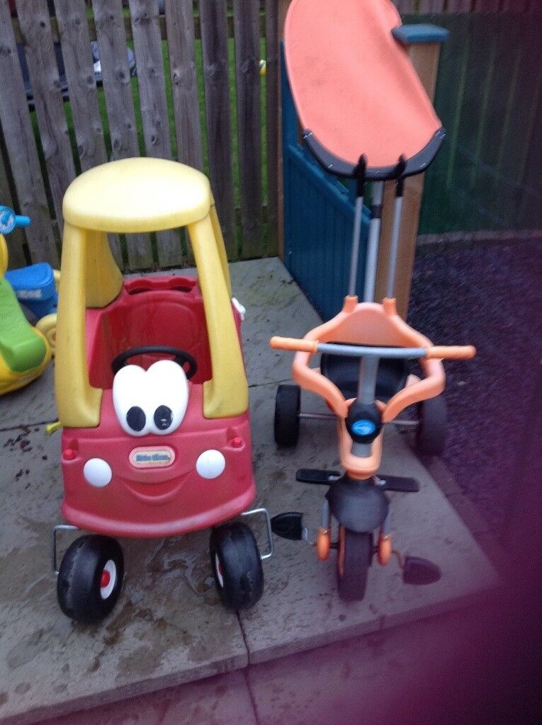 Little tikes car and trike
