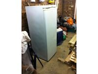 A used second hand upright freezer