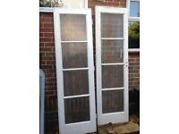 2 x vintage glass doors