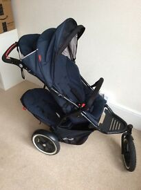 PHIL & TED Navigator Pushchair V2 with auto brake (15 months old) plus Doubles Kit,cocoon &raincover