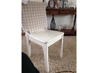 INGOLF WHITE DINING CHAIR & SEAT PAD