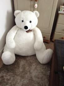Large over size super White Bear In need of a good home .