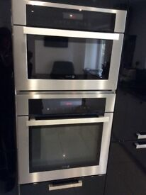 Integrated single oven and separate integrated combi microwa