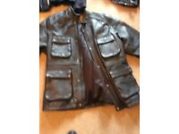 Motorcycle jackets 2 leather , 1 canvas