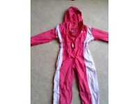 "Waterproof ""hi gear"" jumpsuit, pink age 3-4"