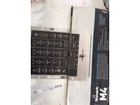 NUMARK M4 3 CHANNEL DJ MIXER - SILVER, BRAND NEW, UNDAMAGED AND IN PACKAGING. NEGOTIATION IS OPEN