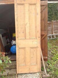 Pine interior door. Victorian.