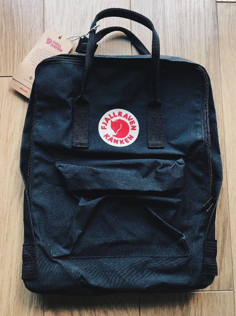 NEW Fjällräven/Fjallraven Backpack Black SRP £75