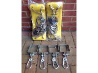 Outdoor children's garden swing components