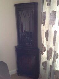 Mahogany corner cabinet perfect for up cycling