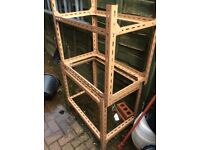 Heavy duty shelving made by handy of england