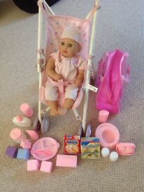 Baby Annabell doll plus pushchair and accessories