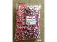 Love heart 300 rolls sweets wedding favours