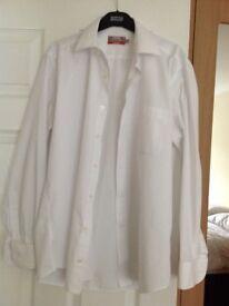 "Mans Long Sleeve White Shirt 15 1/2"" Collar"