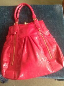 NEW - Large Red Marks and Spencer ladies handbag.