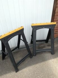 2 Plastic folding sawhorses for sale
