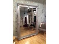 Huge Silver Ornate Mirror 7ft x 5ft perfect for boutique or salon