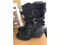 2 pairs of Ladies size 5 Rocket Dog boots in very good condition.