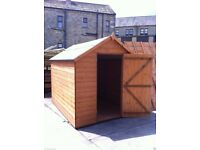 6x4 T&G Wooden Garden Shed Apex Factory Seconds - FULLY T&G 6ft x 4ft