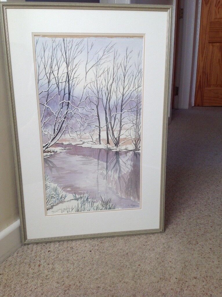 Water Colour, River Lagan in Winter