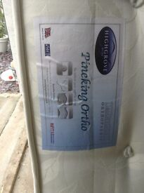 Good as new double orthopaedic mattress