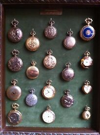 18 pocket watch collection