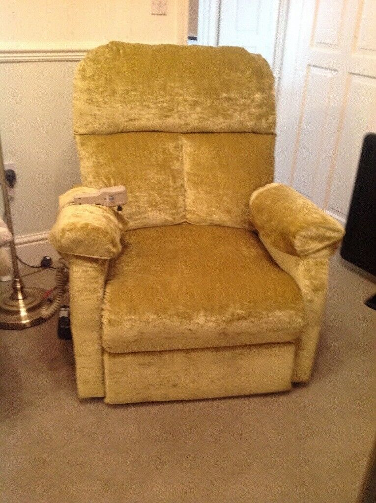 Crushed velvet recliner lift and rise chair mobility   in Headingley ...
