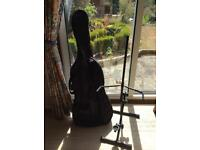 Cello stand and Protection cover.