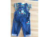 Boys Two Piece Dungaree Outfit