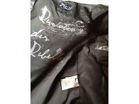 River Island Leather Jacket.Urban street Motorbike/Scooter. leather Jacket Detachable Hood