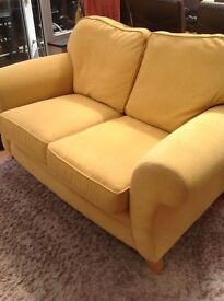 Yellow 2 Seater Sofa, good quality, vgc, very comfy. Can deliver. NOW SOLD