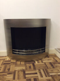 Modern bioethanol metal fireplace for sale.