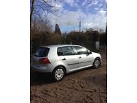 VW golf 1.4 silver, very low mileage, excellent condition,