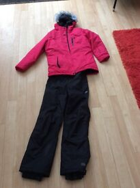 Girls Ski Jacket and trousers aged 9-10