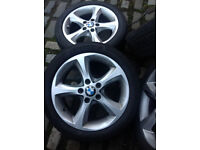BMW ALLOY WHEELS OFF OF 120 D NICE WHEELS