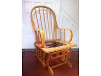 Vintage Windsor Nursing Rocking Glider Chair No Cushion / Can Deliver