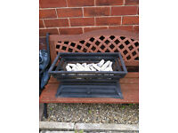 cast iron gas open log efect burner