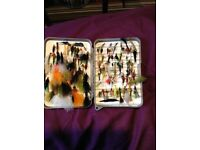 Case of fishing flies all diff types about 100 quality ones. Case included.