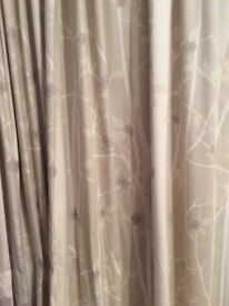 Laura Ashley Natural Curtains W223cm L229cm