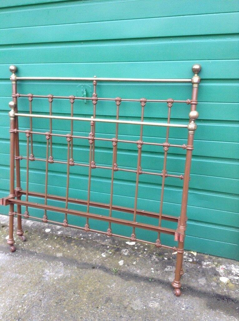 Original Victorian Brass and Iron Bedstead