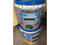 RONSEAL FENCE LIFE PLUS FOREST GREEN 15 LITRES