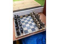 Vintage Aztec Marble chess set