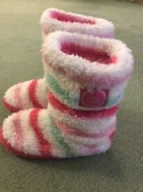 Joules slipper boots girls size 8-10