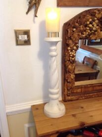 LOVELY LARGE SHABBY CHIC CANDLE STICK