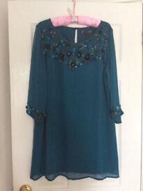 Joanna Hope blue/green long sleeved dress brand new