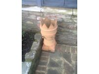 Chimney pot with crown on top, one piece missing, £20