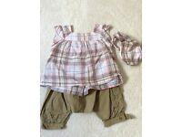 Verbaudet 3 piece set - shorts, top and headband 9-12 months